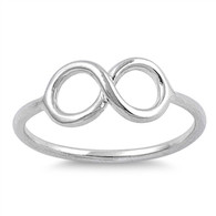 Small Silver Infinity Ring