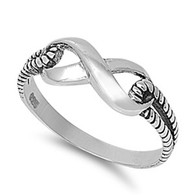 Sterling Silver Infinity Rope Ring