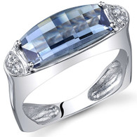 Radiant and Seductive 3.00 Carats Barrel Cut Alexandrite Sterling Silver Ring