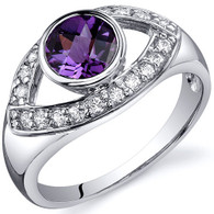 Captivating Curves 1.00 carats Alexandrite Sterling Silver Ring