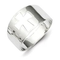 Sterling Silver Cross Cutout Ring