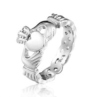 Stainless Steel Celtic Style Claddagh Ring