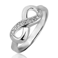 Plain Sterling Silver Infinity Ring