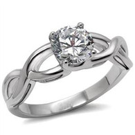 Stainless Steel Infinity Knot Promise Friendship Engagement Ring