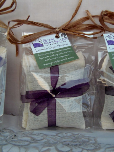 Use our Lavender dryer sachet as an alternative to dryer sheets.  Our all natural dryer sachets are filled with lavender buds.  Gently squeeze the sachet and toss into the dryer with laundry.  Each sachet can be reused multiple times to add a soothing lavender scent to all your linens.