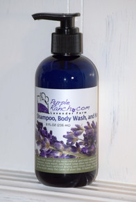 Our softly scented Lavender Shampoo, Body Wash and Hand Soap is SLS, gluten and paraben free.  This all natural shampoo will not take the color out of your hair and will leave it soft and silky.