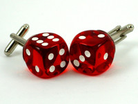 These swanky Casino Red D6 Cufflinks in Lucky 7s are ready to hit the Vegas scene.