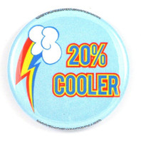 This button increase your coolness by 20% in 10 seconds flat.
