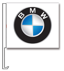 Window Flags With Vehicle Manufacturer Logos