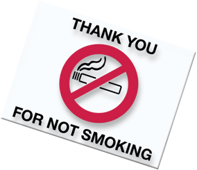No Smoking Static Cling