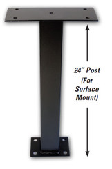 "After Hours 24"" Self Contained Night Drop Box Mount Post"