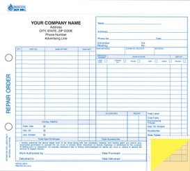Repair Order   3-Part, Carbonless   Form# RO-600-3