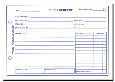 ... Check Request Form. Image 1