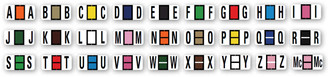 Color-Code Alphabet Labels   Ringbook   Full Set