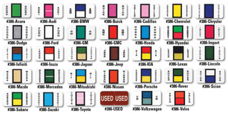 Color-Code Auto-Makes (Ringbook) - 270 Auto-Make Labels per set
