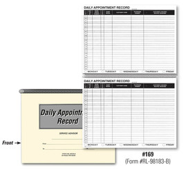 Daily Appointment Record Book   Form# RL 98183