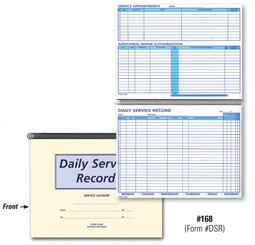 Daily Service Record Book   Form# DSR