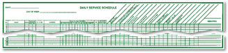 Daily Service Schedule   Form# RS67R