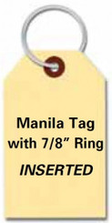 Manila Key Tags w/Rings Inserted