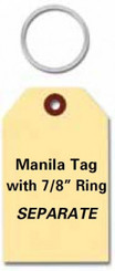Manila Key Tags w/Rings Separate