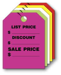 Mirror Hang Tags (Jumbo ) LIST/DISCOUNT/SALES PRICE