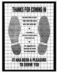 Poly Back Floor Mats Footprint
