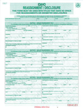 Title Reassignment Form