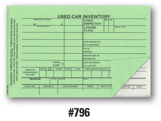 Used Car Inventory Card