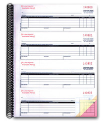 3-Part Purchase Order Books (Form# NC-124-3) PLAIN