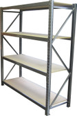 Longspan Shelving Unit - 2500x1320x400 / Timber - 3 Shelves