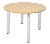 R20 Round Chrome Table - 4  Leg