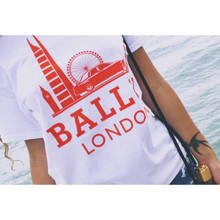 BALLIN LONDON WHITE & ORANGE T-SHIRT