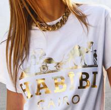 HABIBI CAIRO WHITE & GOLD FOIL T-SHIRT