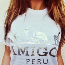 AMIGOS PERU WHITE & SILVER T-SHIRT