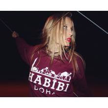 HABIBI DOHA MAROON SWEATER