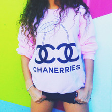 CHANERRIES BABY PINK SWEATER