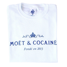 MOET & COCAINE WHITE T-SHIRT