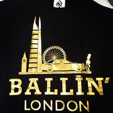 BALLIN LONDON BLACK & GOLD FOIL SWEATER