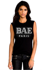 BAE PARIS BLACK TANK TOP
