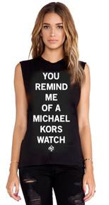YOU REMIND ME OF A MICHAEL KORS WATCH BLACK TANK