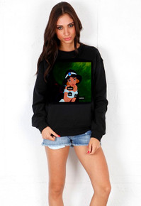 "PRINCESS JASMINE ""PLEASE BUY IT HABIBIII"" BLACK SWEATER"