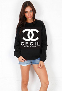 CC CECIL ZIMBABWE BLACK SWEATER