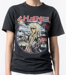 CHANEL x IRON MAIDEN KARL LAGERFELD BLACK T-SHIRT