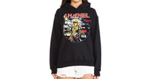 CHANEL X IRON MAIDEN KARL LAGERFELD BLACK HOODIE
