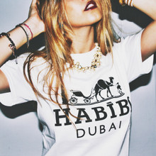 HABIBI DUBAI WHITE & BLACK T-SHIRT