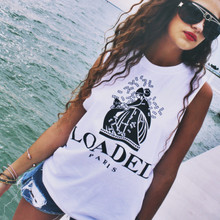 LOADED PARIS SLIT SLEEVE WHITE T-SHIRT