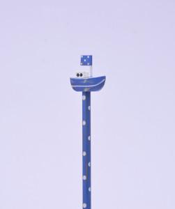 Blue Sailboat Hand Made Pencil