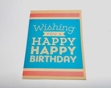 Wishing you a Happy Happy Birthday Giant Card (Blank Inside) w/ envelope