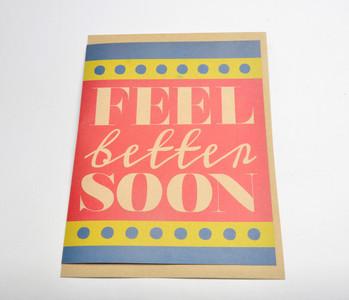 Feel Better Soon Giant Card (Blank Inside) w/ envelope