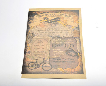 World's Coolest Dad Giant Card (With Special Person Poem Inside) w/ envelope